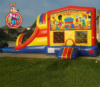 Happy Birthday Module 5 in 1 Waterslide Bouncehouse Combo